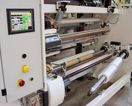 Soft prestretch fiilm rolls on automatic winder